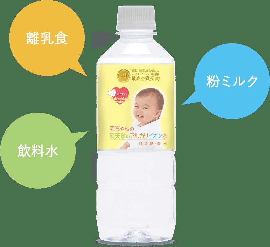 離乳食・飲料水・粉ミルクにも